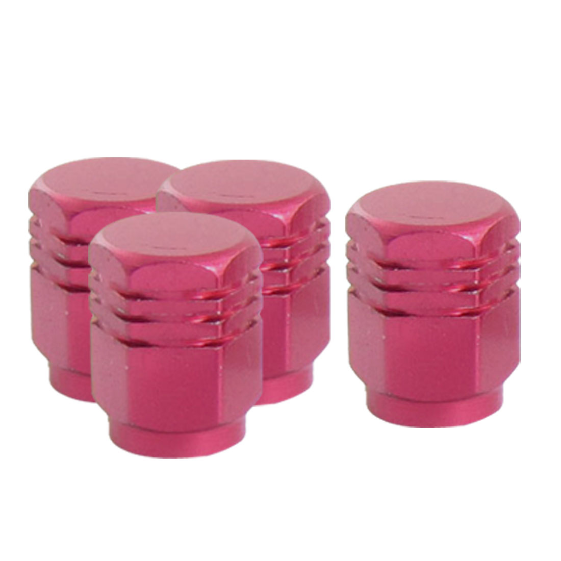 4 Pcs Hex Shaped Alloy Tire Air Valve Stems Cover for Car