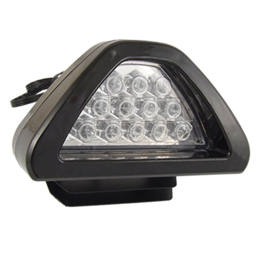 Vehicle Auto Car 12 Red LED Tail Rear Metal Brake Light Lamp DC 12V