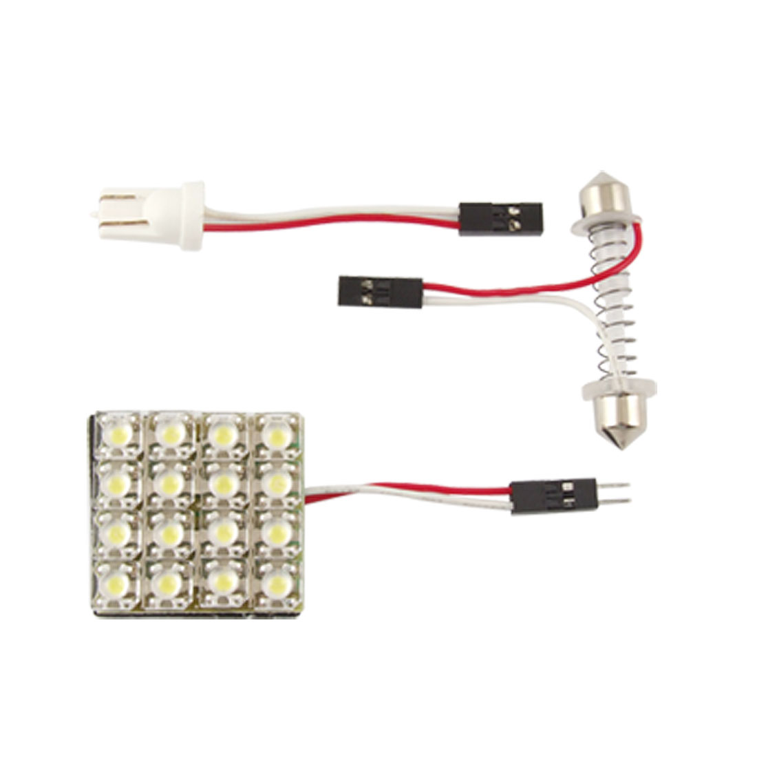 White 16 SMD LED Festoon Car Roof Dome Light Lamp Bulb + T10