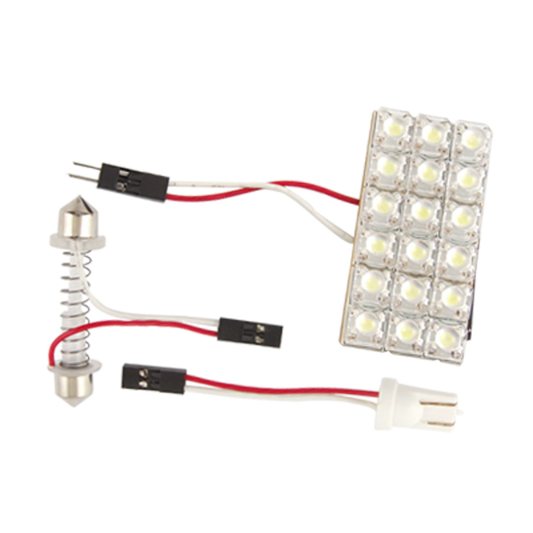 Car Interior White 18 SMD LED Light Panel Bulb T10 Dome Festoon