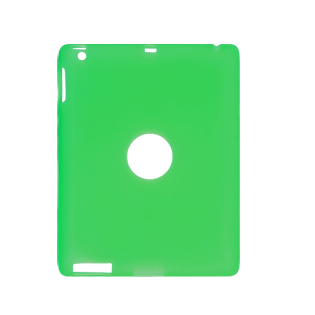 Semi Clear Green Soft Plastic Case Skin for iPad 2 2G