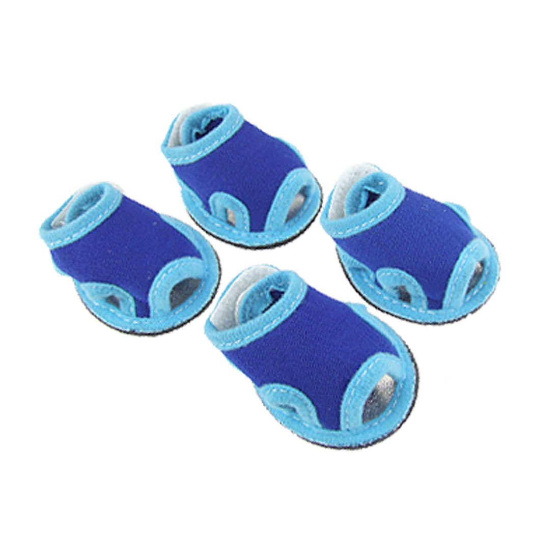 2 Pairs Blue Detachable Closure Shoes Pet Puppy Dog Sandals Sz 4