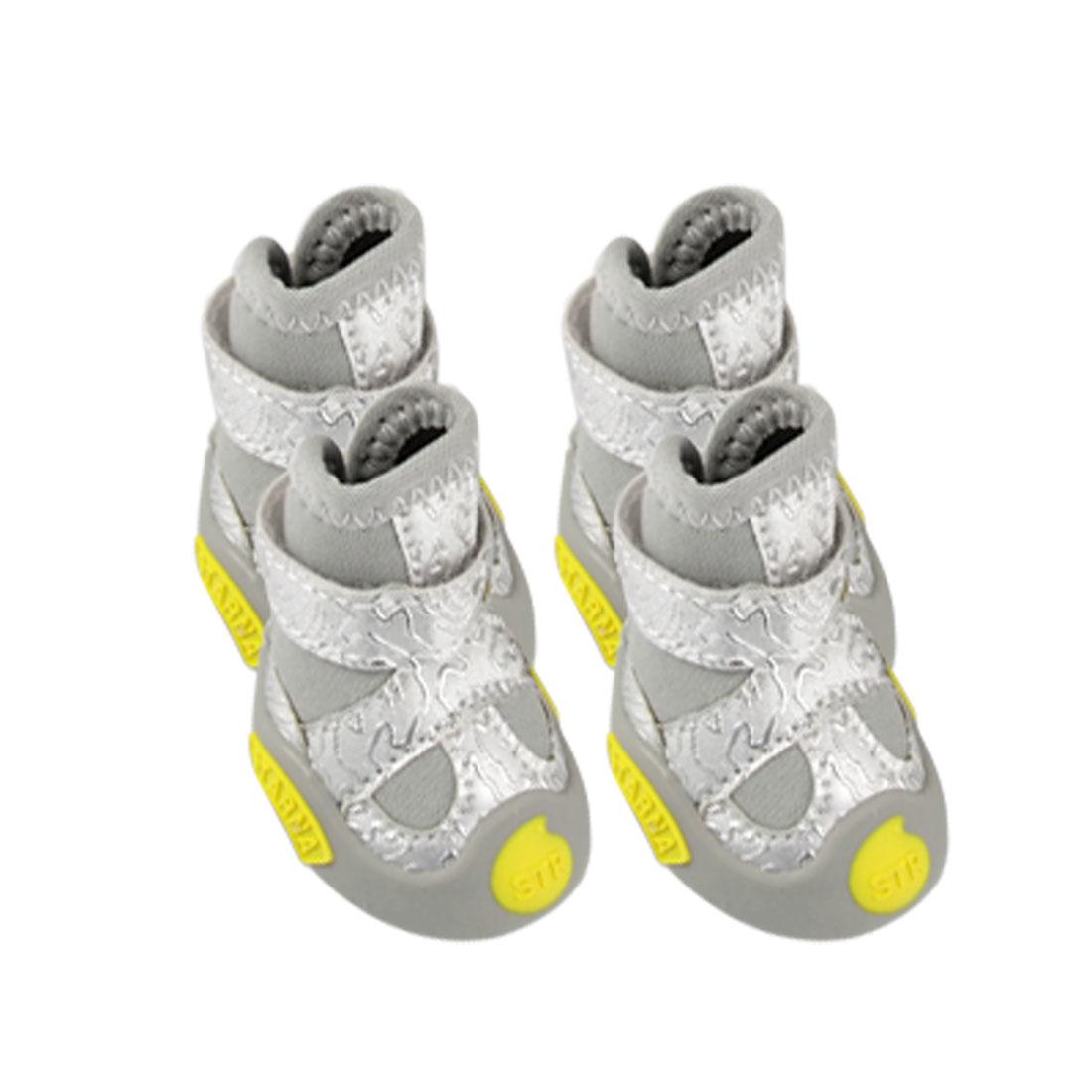 Pet 2 Pair Detachable Closed Warm Sponge Filled Gray Shoes Size 5