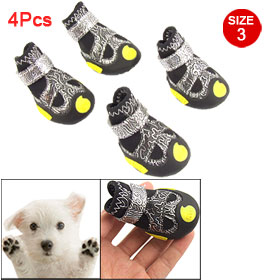 Pet Nonslip Rubber Bottom Detachable Closed Boots Size 3