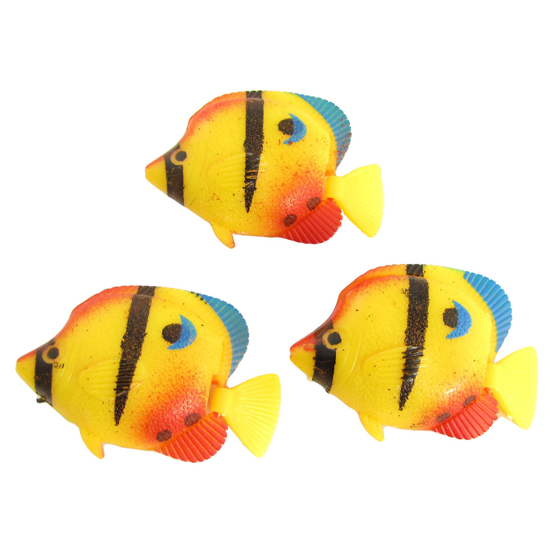 3 Pcs Manmade Wiggling Tail Floating Tropical Fish Aquarium Ornament