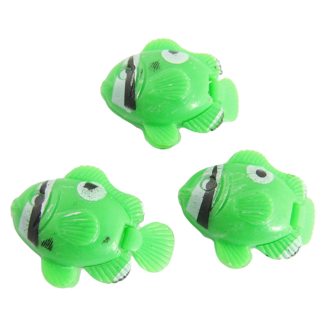 Green Artifical Wiggling Tail Fish Aquarium Decor Ornament 3 Pcs