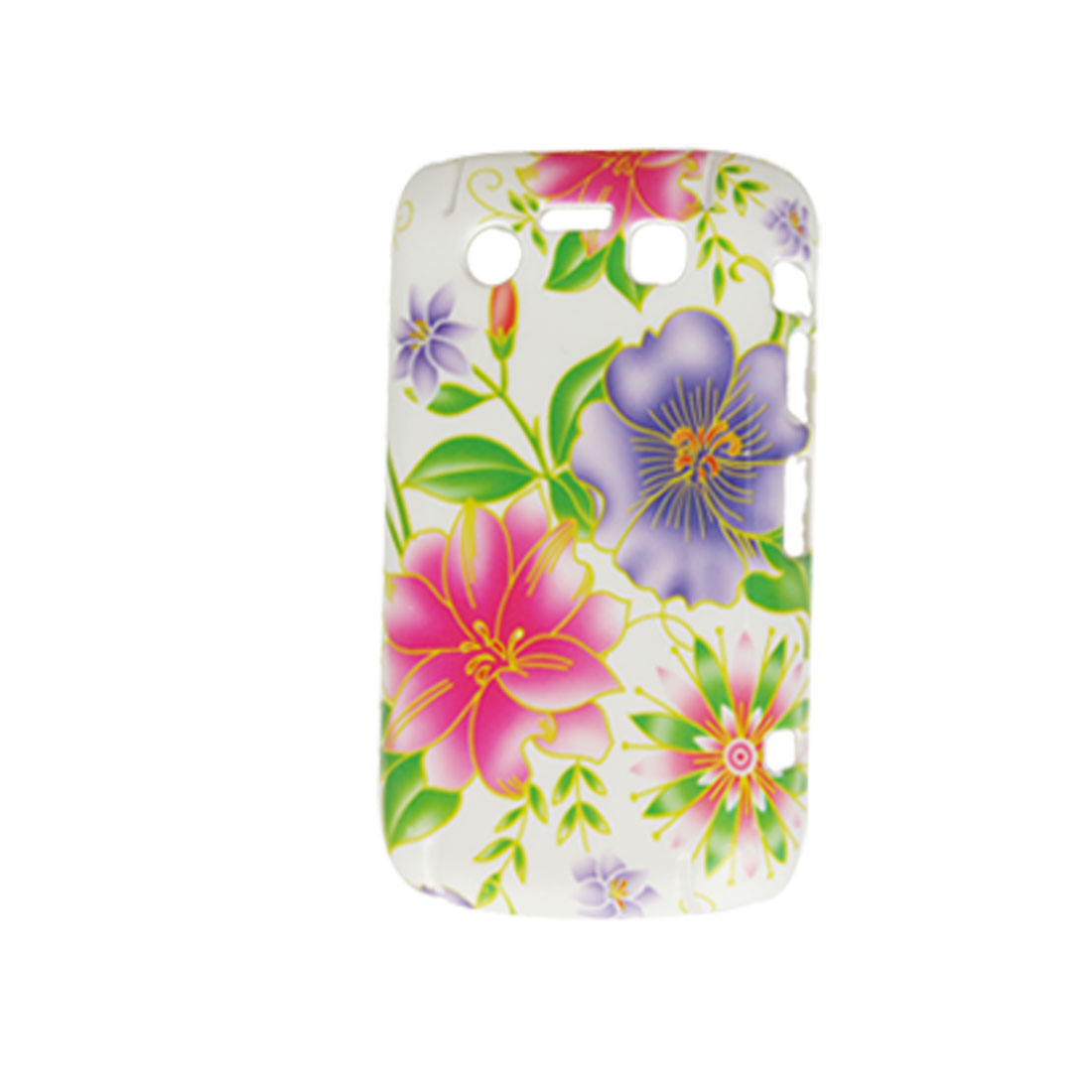 Purple Fuchsia Flower Hard Plastic Back Case for Blackberry 9700