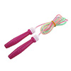 Fitness Fuchsia Plastic Handle Spiral Shaped Skip Rope