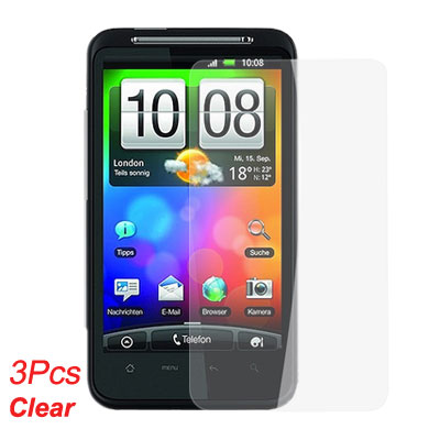 Clear Screen Guard Protective Film 3 Pcs for HTC Desire HD G10
