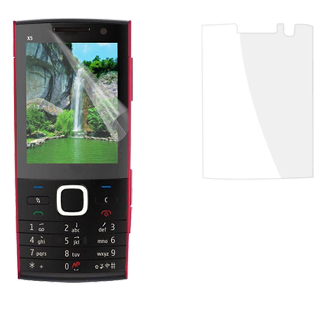3 Pcs Anti Dust Clear Plastic Screen Guard for Nokia X5-00