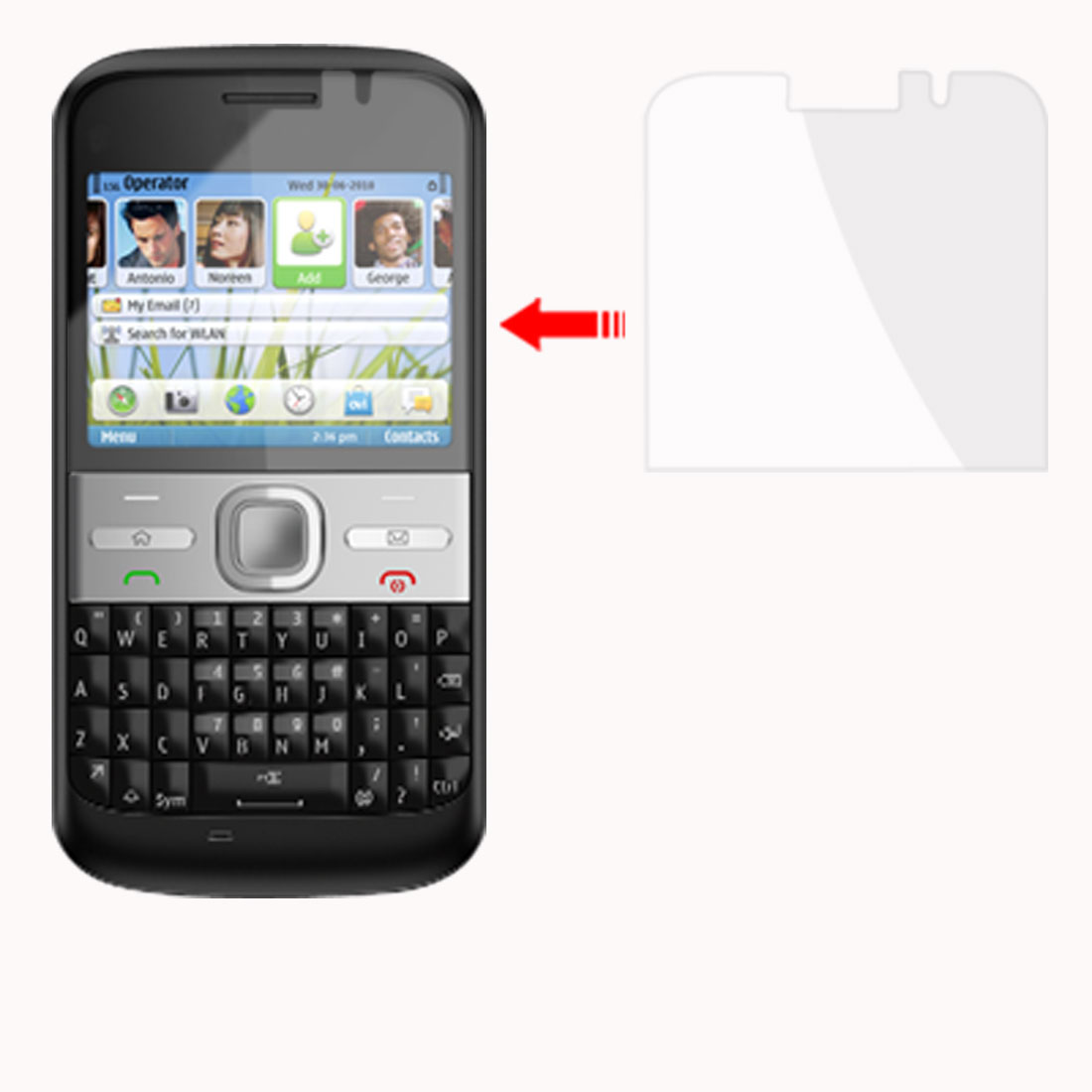 3 Pcs Clear Plastic Screen Protective Film for Nokia E5