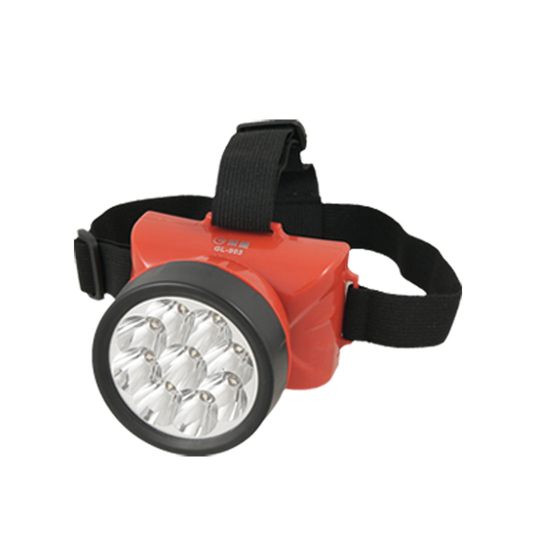 US Plug AC110/220V 90 Degree Rotatable 9 LEDs Rechargeable Headlamp