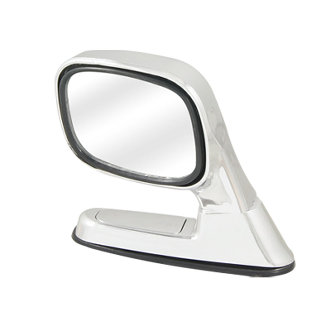Rotatable Silver Tone Left Side Assistant Mirror for Auto Car