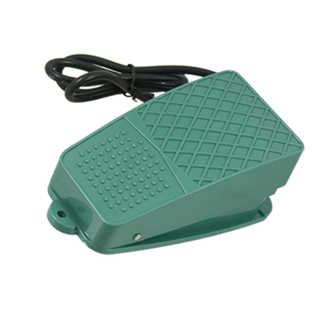 AC 250V 10A SPDT NO NC Nonslip Plastic Momentary Power Treadle Foot Pedal Switch Green