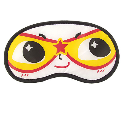 2 Pcs Elastic Band Smile Cartoon Face Travel Nylon Eye Mask Sleeping Eyeshade