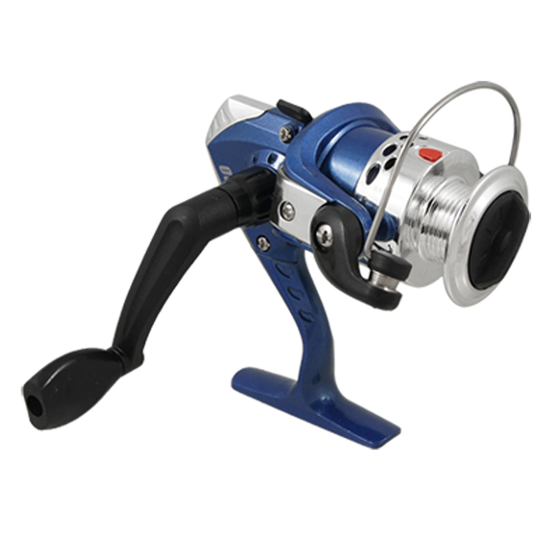 Black Plastic Handle Fishing Spinning Bearings Line Spool 5.2:1 Gear Ratio