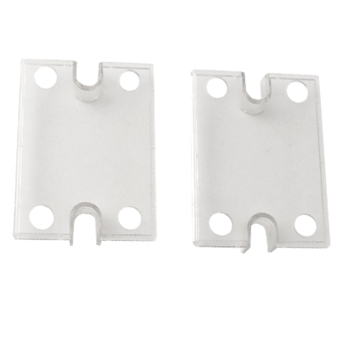 Single Phase Solid State Relay SSR Clear Plastic Safety Cover 2 Pcs