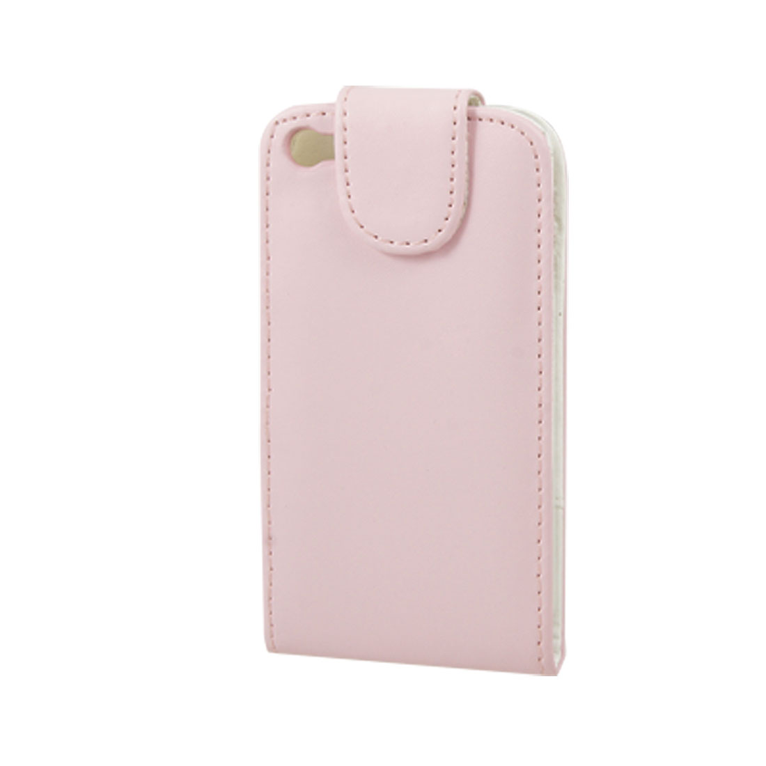 Pink Faux Leather Magnetic Closure Case for iPhone 4 4G