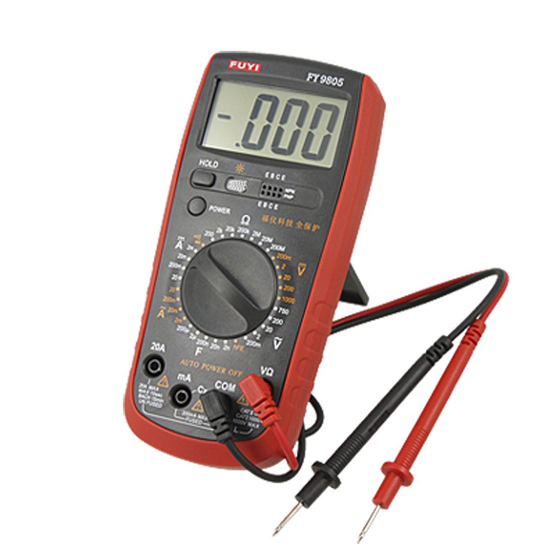 AC DC Voltage Current Resistance Capacitance hFE Testing Multimeter