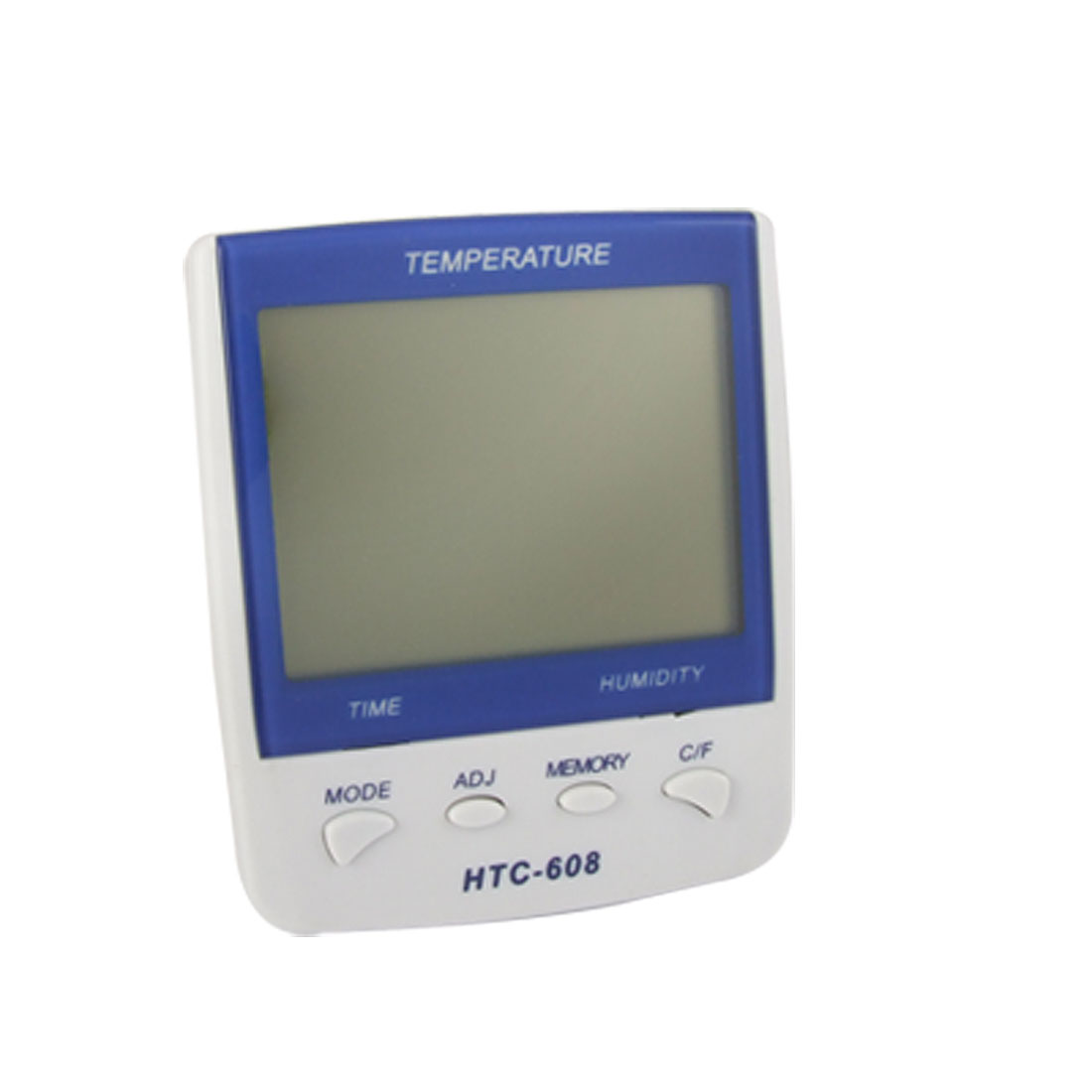 Digital Calendar Alarm Clock Temperature Humidity Meter Blue White