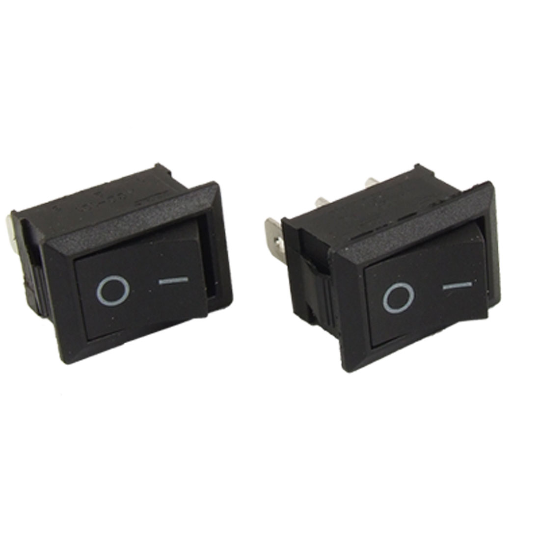 2pcs AC 6A/250V 10A/125V 3 Pin ON/ON 2 Position SPDT Snap-in Boat Rocker Switch