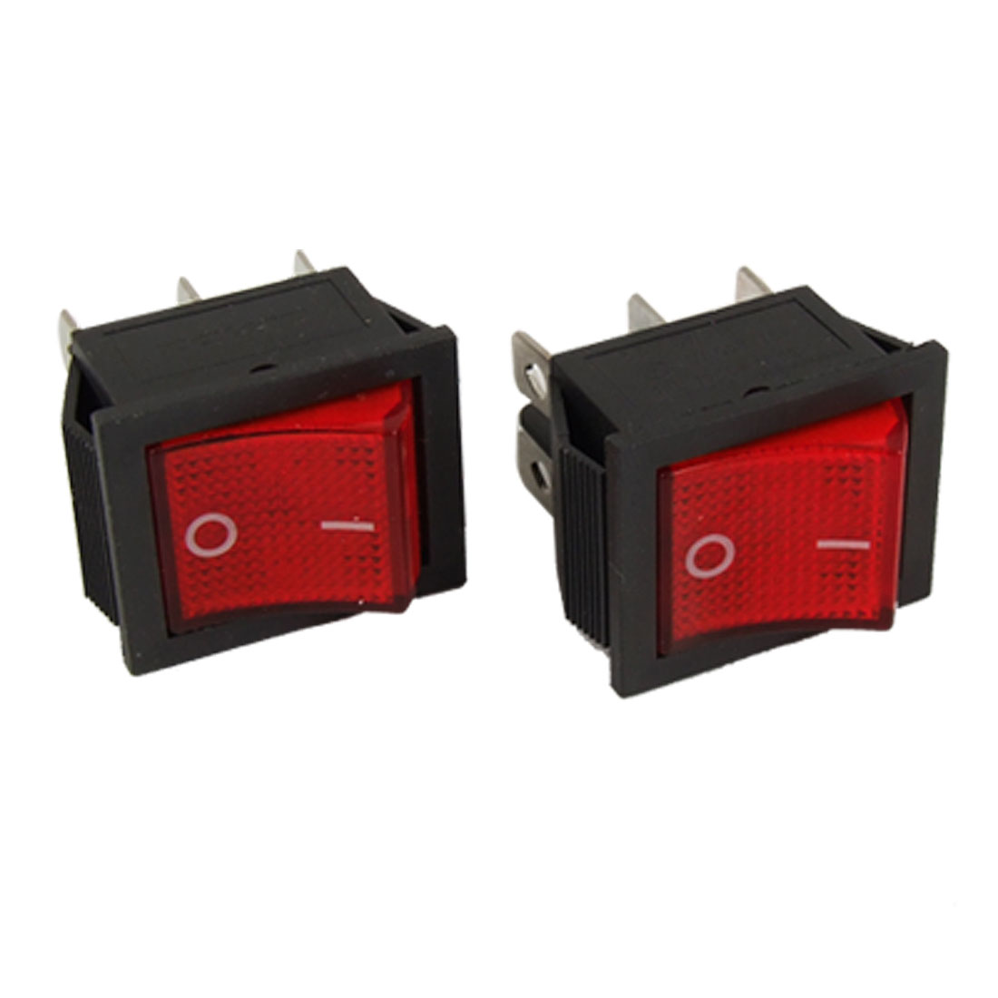 2pcs AC 16A/250V 20A/125V Red Light 6 Pin DPDT ON/ON Snap in Boat Rocker Switch