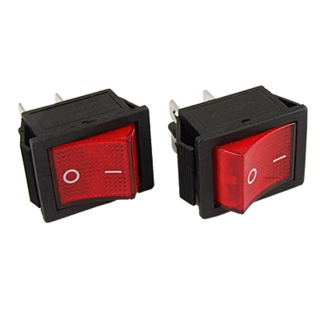 2 x AC 16A/250V 20A/125V Red Light ON/OFF I/O DPST Snap in Boat Rocker Switch