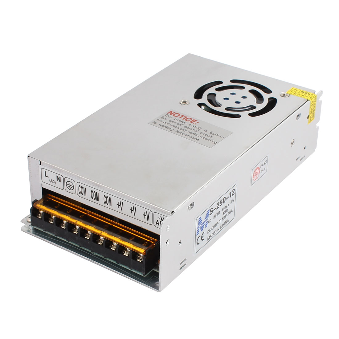 AC 110/220V DC 12V 20A 240W Double Output Switch Power Supply Driver for LED Strip Light