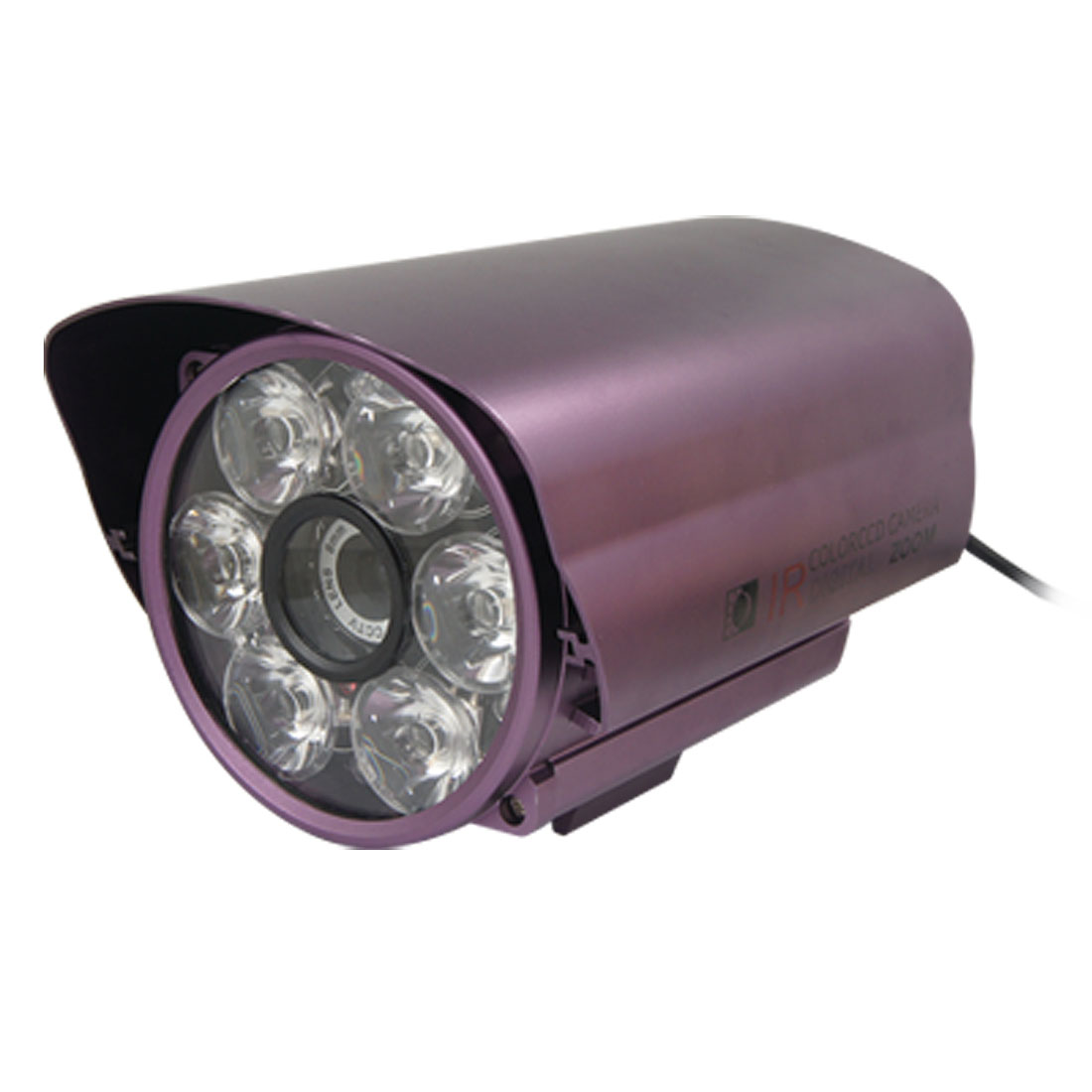 "Purple Shell 1/3"" Auto IR Color CCD 8mm Lens CCTV Security Camera"