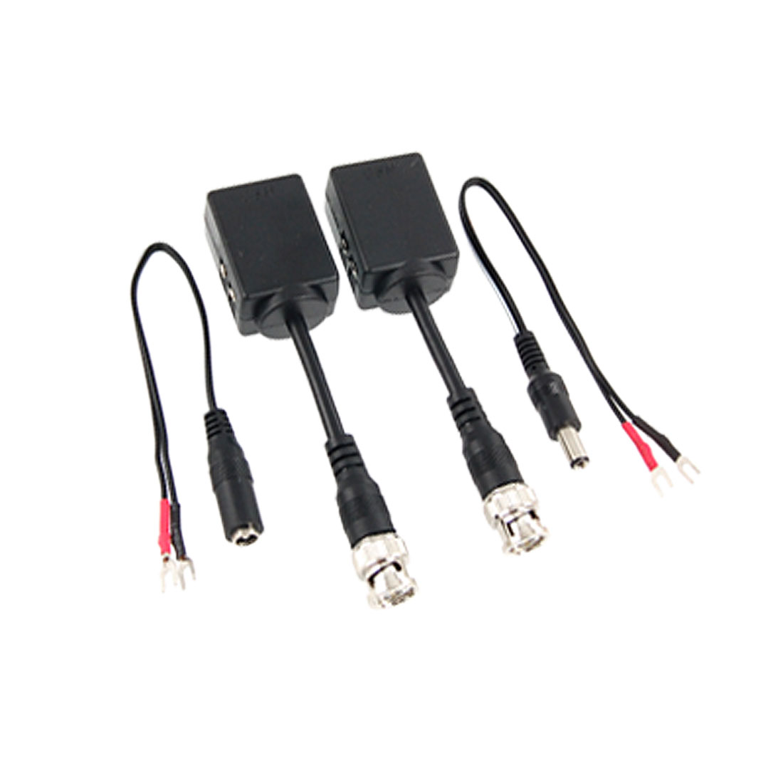 BNC Male to RJ45 Female UTP Passive Transmitter Video Balun Black
