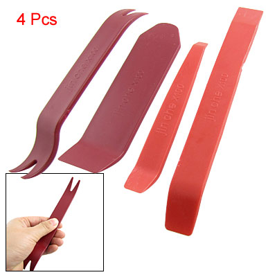 Burgundy Red Plastic Dismantle Tools 4 Pcs for Car Video Audio