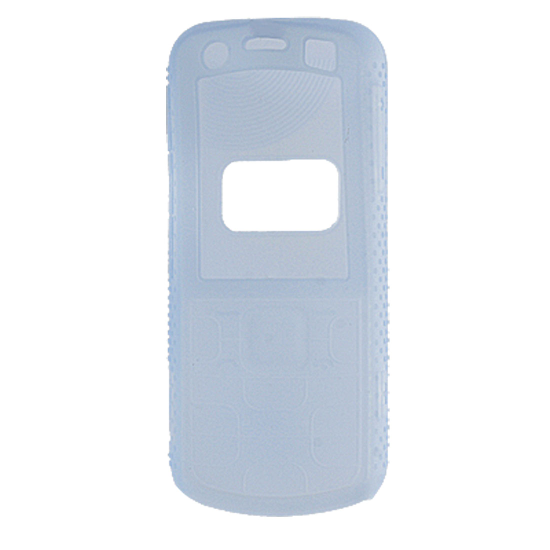 Textured Silicone Skin Case Soft Cover Blue for Nokia 5320