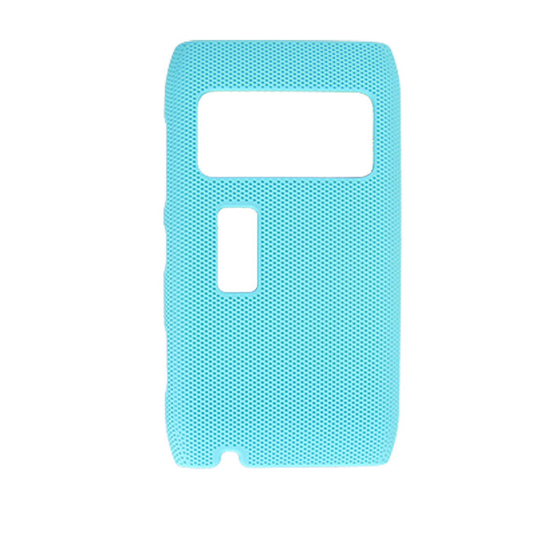 Baby Blue Texture Hard Plastic Back Case for Nokia N8