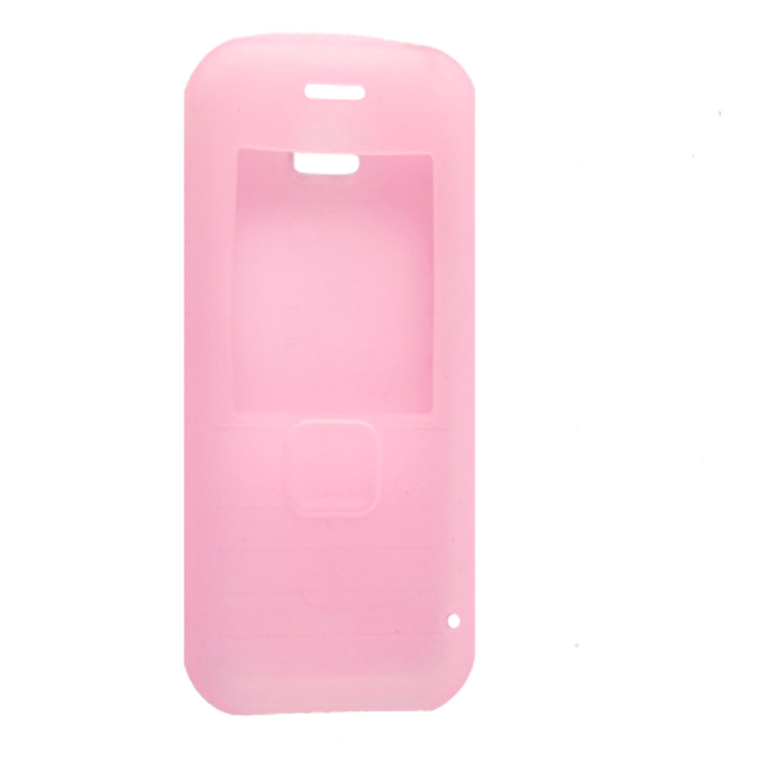 Nonslip Silicone Skin Guard Cover Clear Pink for Nokia 7310C