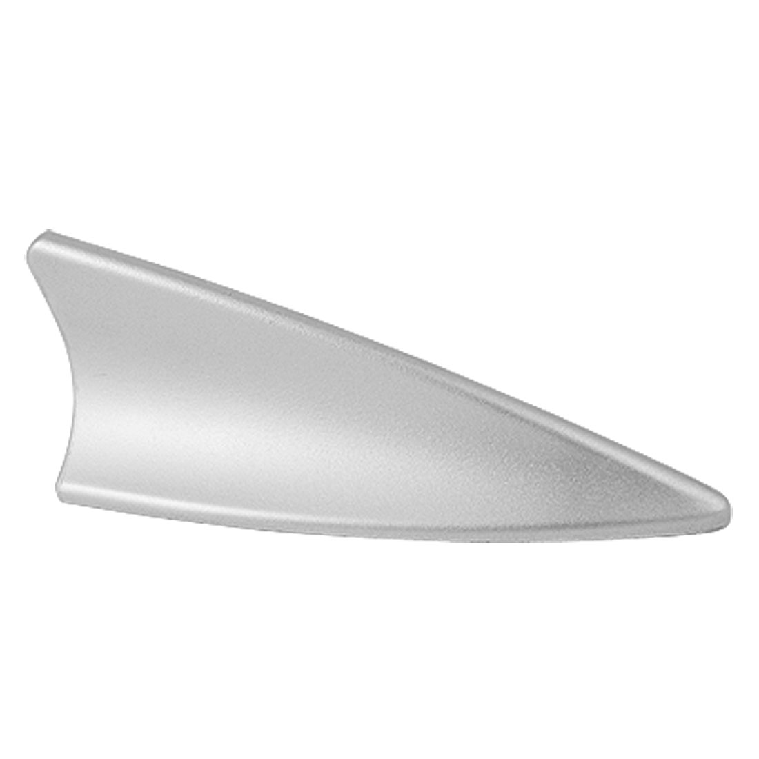 Silver Tone Plastic Shark Fin Designed Decor Antenna for Car Vehicle