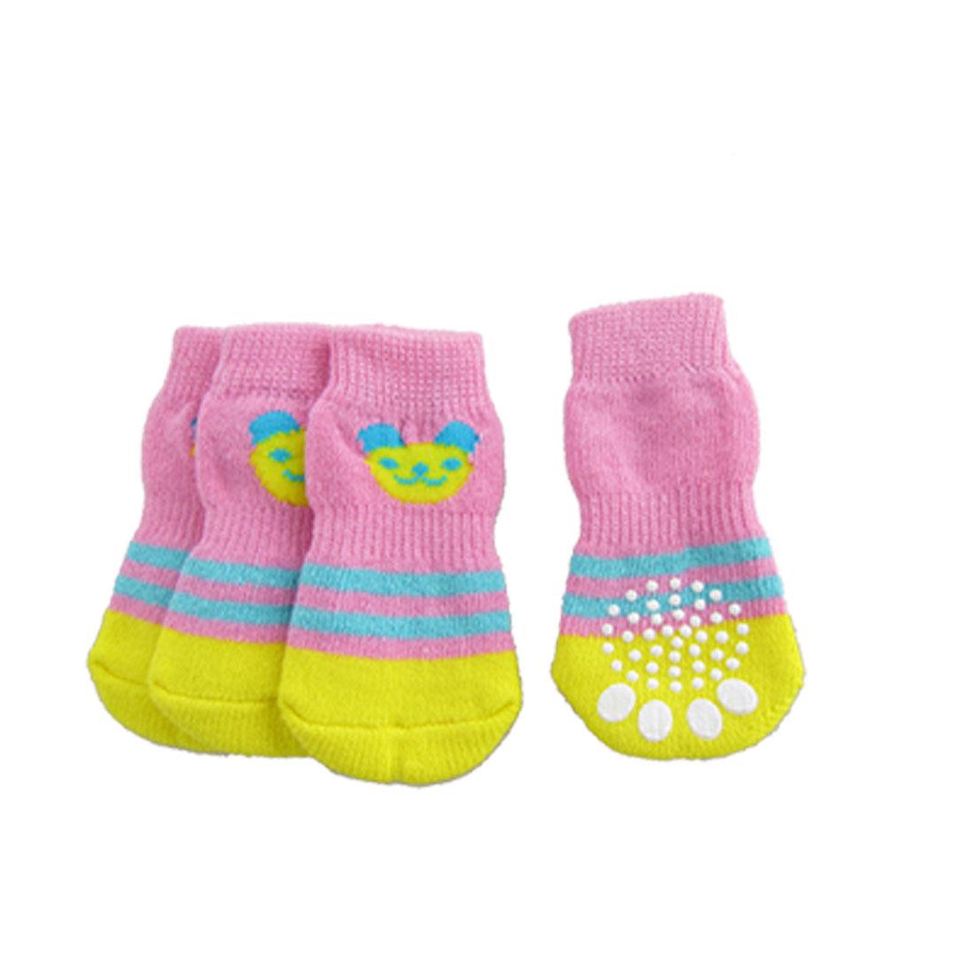 Nonslip Bottom Blue Stripe Knitted Winter Socks for Dog