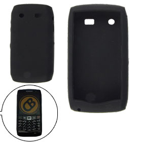 Smooth Silicone Skin Black Protector for BlackBerry 9100