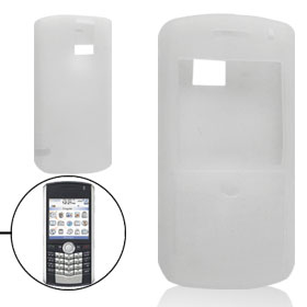 Protective Clear White Silicone Skin Shell for BlackBerry 8100