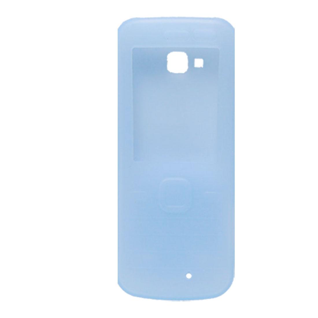 Light Blue Soft Smooth Silicone Cover for Nokia 6730