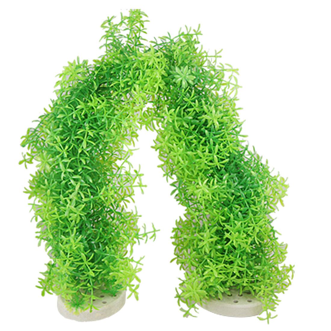 Aquascape Aquarium Plastic Arch Aquatic Plants Decoration Green
