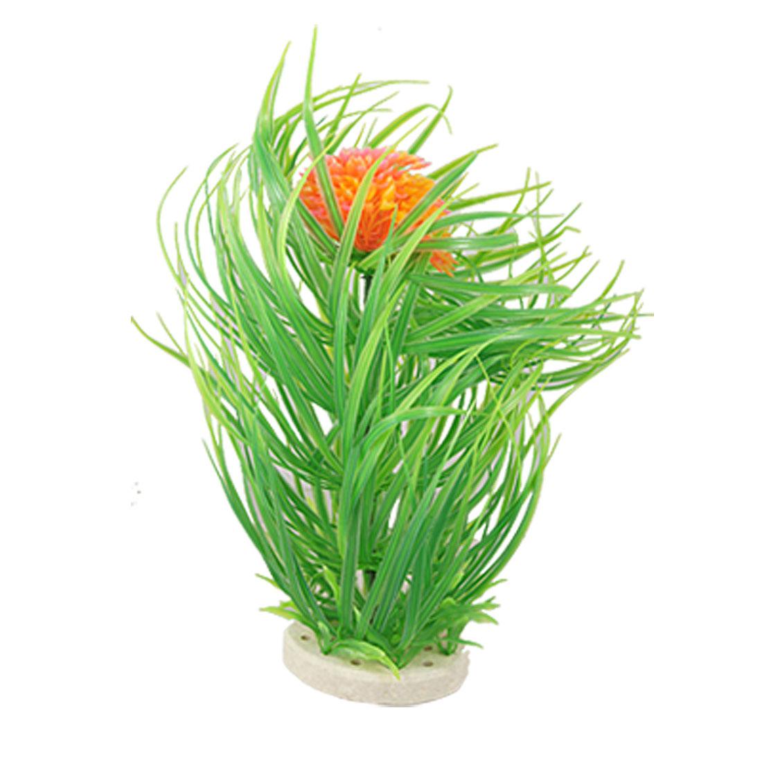 Tank Aquascape Green Plastic Leaf Floral Accent Ornament