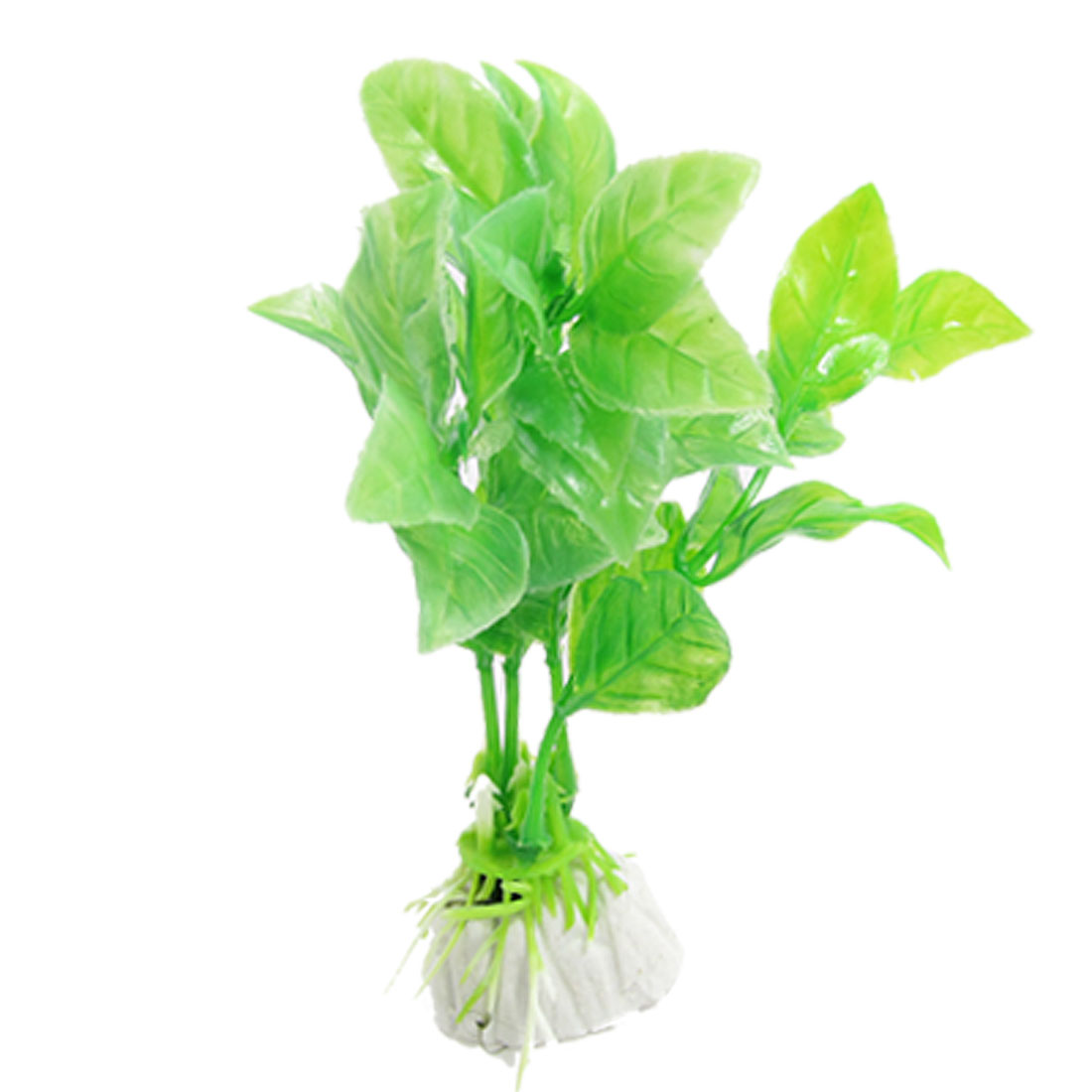 5 Pcs Green Plastic Plant Decor for Fish Tank Aquarium
