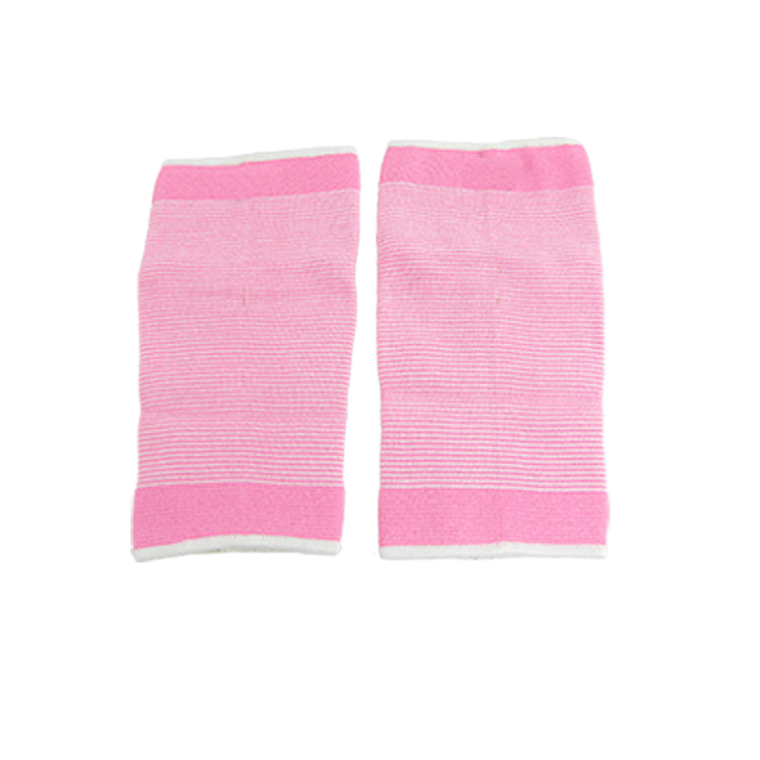 White Pink Bar Stripe Stretchy Crus Calf Support Protector 2 Pcs