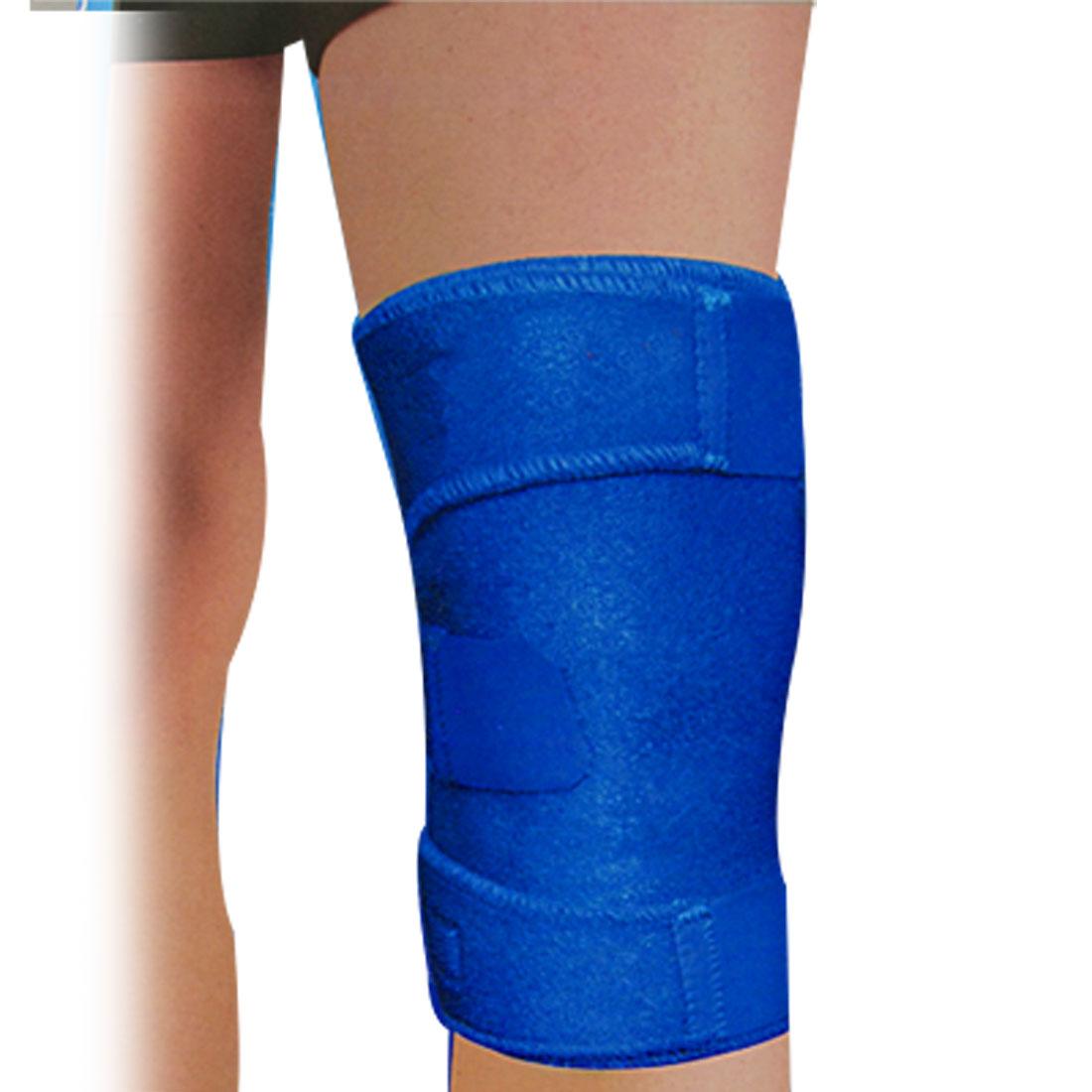 Hook Loop Fastener Neoprene Knee Support Guard Royal Blue