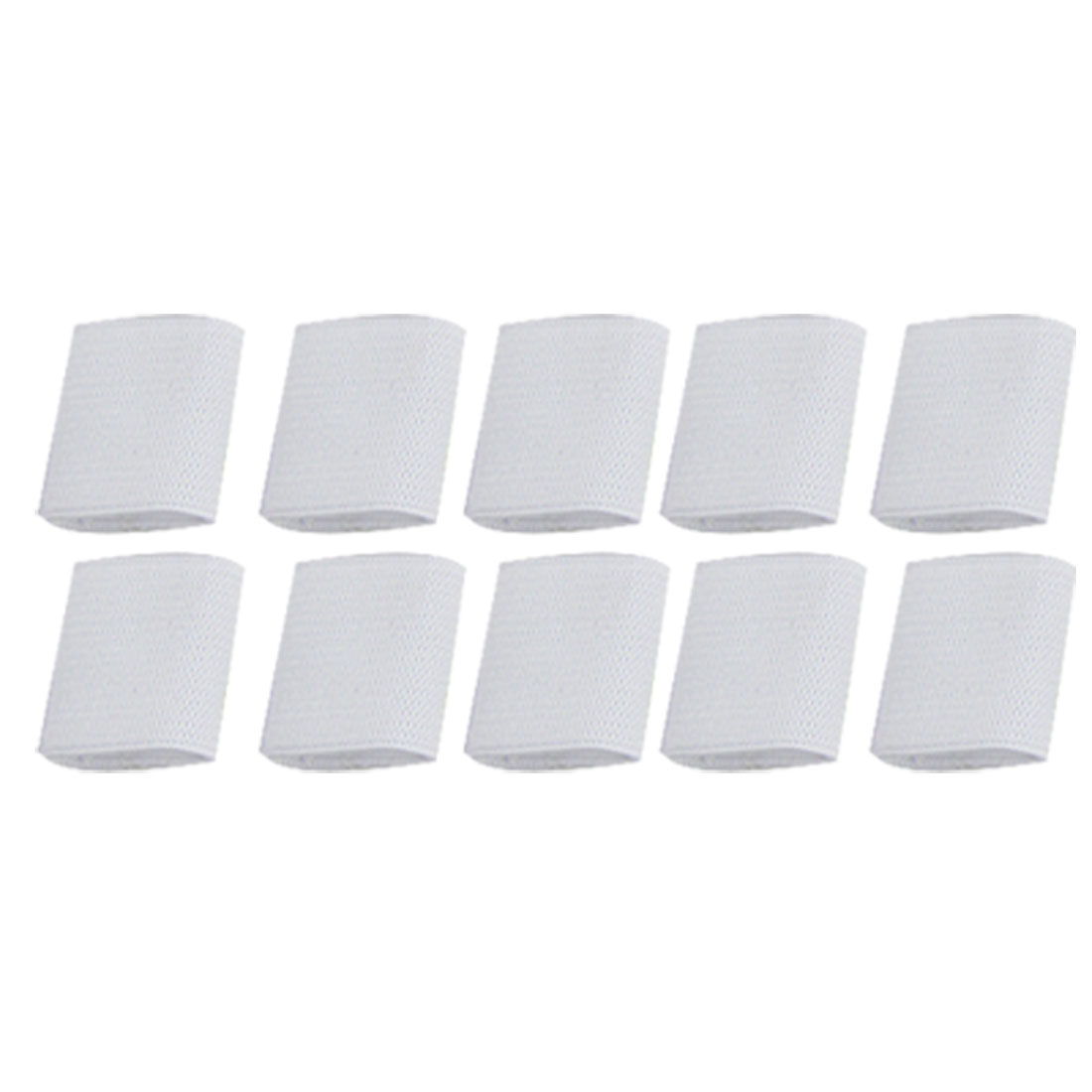 Volleyball White Elastic Finger Sleeve Sports Protector 10 Pcs