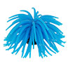 Aquarium Ceramic Base Blue Silicone Sea Anemone Ornament