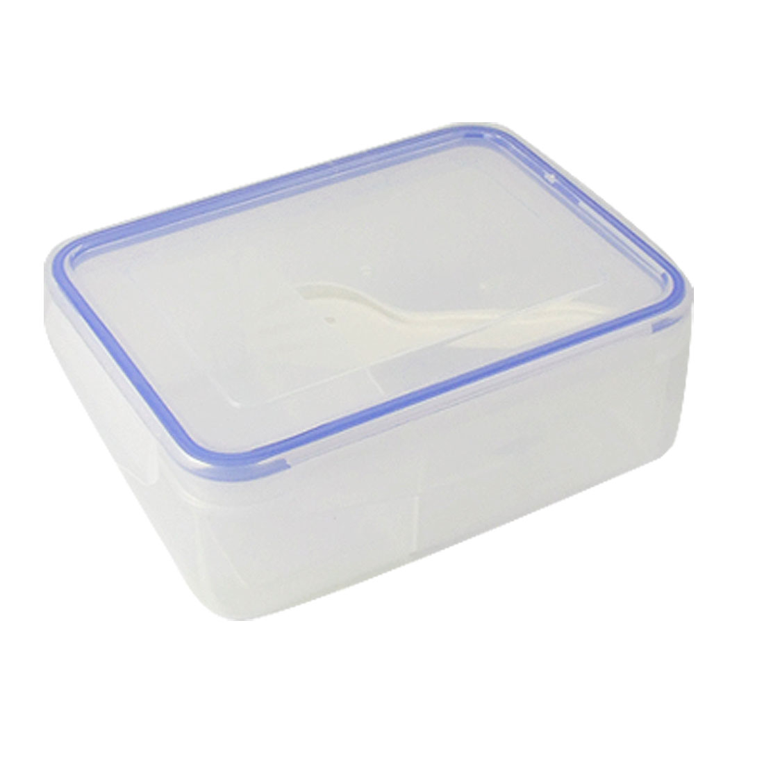 Clear Plastic 2 Compartments Removable Cover Lunch Box