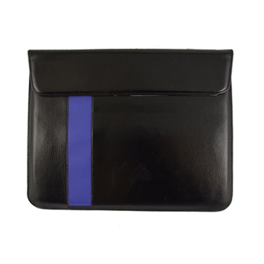 Magnetic Black Blue Faux Leather Pouch Holder for iPad 2G