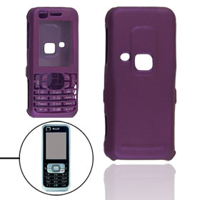 Purple Rubberized Hard Plastic Case Protector for Nokia 6120