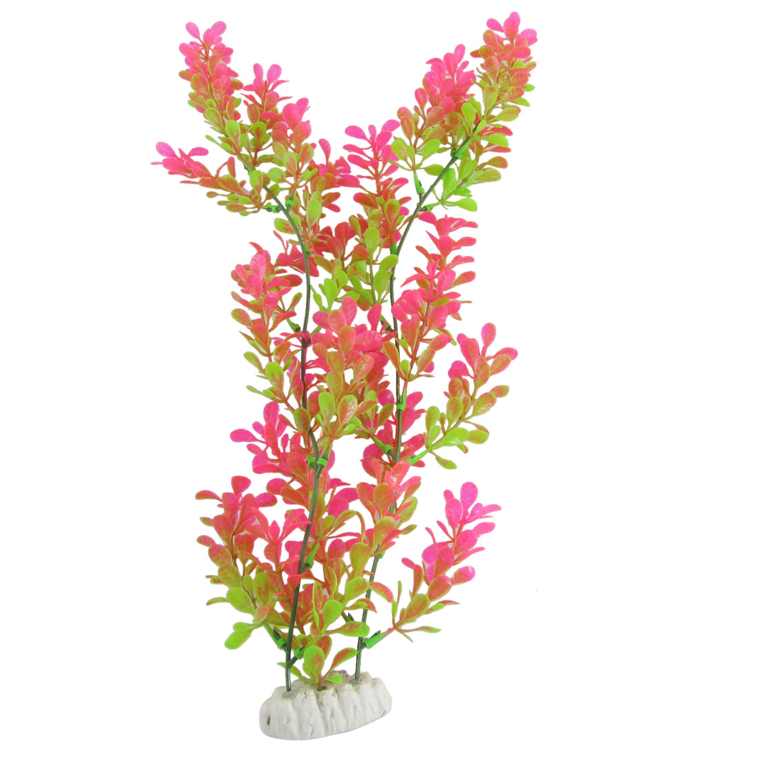 Aquarium Aquascaping Plastic Plant Decor Amaranth Green